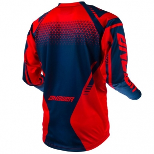 Answer Syncron Kids Drift Bright Red Midnight Jersey Image 3