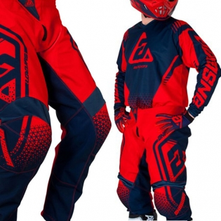 Answer Syncron Kids Drift Bright Red Midnight Jersey Image 4
