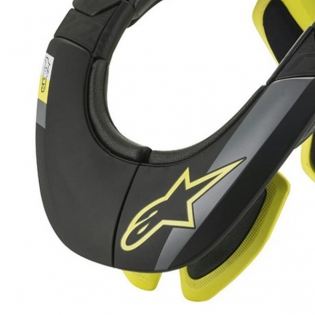 Alpinestars Tech 2 Bionic Black Fluo Yellow Neck Support Image 2