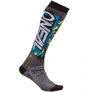 ONeal MX Villain Grey Boot Socks Image 3