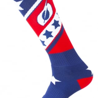 ONeal MX Stars Red Blue Boot Socks Image 3