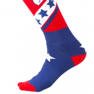 ONeal MX Stars Red Blue Boot Socks Image 4
