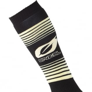ONeal MX Stripes Black Yellow Boot Socks Image 2