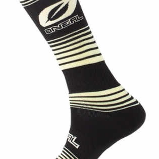 ONeal MX Stripes Black Yellow Boot Socks Image 3
