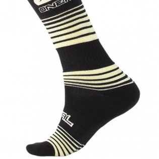 ONeal MX Stripes Black Yellow Boot Socks Image 4