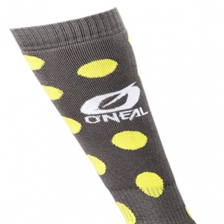 ONeal MX Candy Black Yellow Boot Socks Image 2