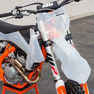 Polisport KTM Plastic Kit - Clear Transparent Image 2