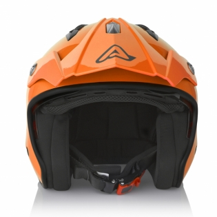 Acerbis Jet Aria Orange Trials Helmet Image 2