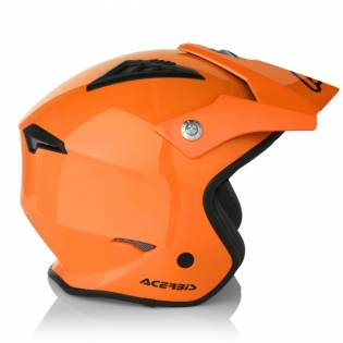 Acerbis Jet Aria Orange Trials Helmet Image 3