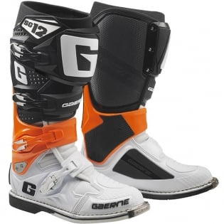 Gaerne SG12 Orange Black White Motocross Boots Image 3