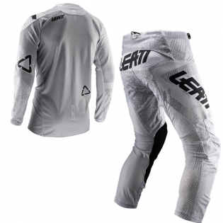 Leatt GPX 4.5 Lite Tech White Motocross Kit Combo Image 3