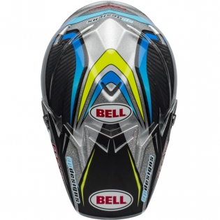 Bell Moto 9 Carbon Flex Helmet - Pro Circuit Black Green Replica Image 3