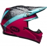 Bell Moto 9 MIPS Helmet - Chief Matte Gloss Black Pink Blue
