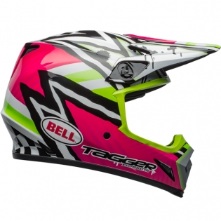 Bell MX9 MIPS Helmet - Tagger Asymmetric Gloss Pink Green Image 4