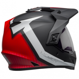 Bell MX9 MIPS Adventure Helmet - Switchback Matte Black Red White Image 4
