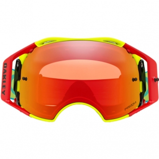 Oakley Airbrake MX Goggles - Flo Red Green Blue Prizm Torch Image 2