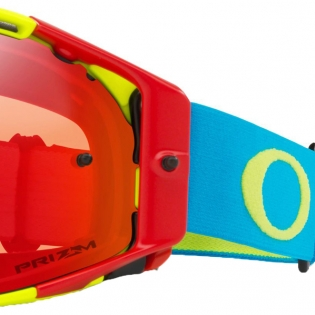 Oakley Airbrake MX Goggles - Flo Red Green Blue Prizm Torch Image 3