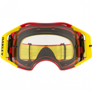 Oakley Airbrake MX Goggles - Red Yellow Clear Image 2