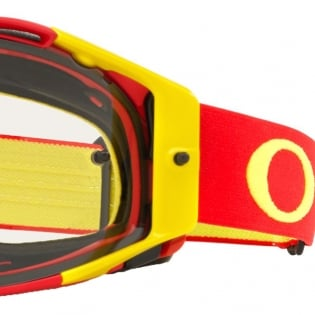 Oakley Airbrake MX Goggles - Red Yellow Clear Image 3