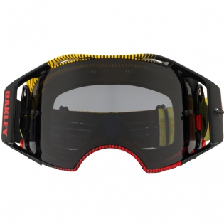 Oakley Airbrake MX Goggles - Frequency Red Yellow Dark Grey Image 2