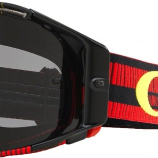 Oakley Airbrake MX Goggles - Frequency Red Yellow Dark Grey Image 3