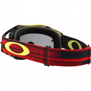 Oakley Airbrake MX Goggles - Frequency Red Yellow Dark Grey Image 4