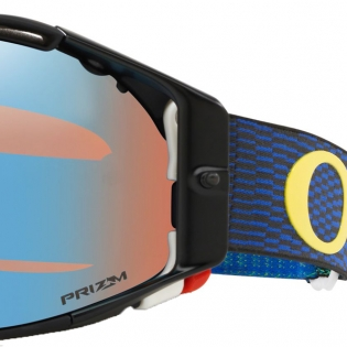 Oakley Airbrake MX Goggles - Equalizer Blue Yellow Prizm Image 3