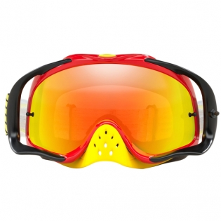 Oakley Crowbar Goggles - Circuit Red Yellow Fire Iridium Image 2