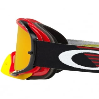 Oakley Crowbar Goggles - Circuit Red Yellow Fire Iridium Image 4