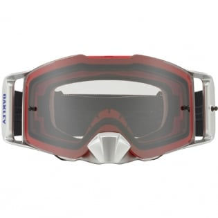 Oakley Front Line MX Goggles - Shockwave Red Blue Clear Image 2