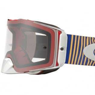 Oakley Front Line MX Goggles - Shockwave Red Blue Clear Image 3
