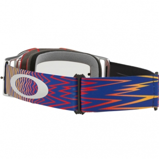 Oakley Front Line MX Goggles - Shockwave Red Blue Clear Image 4