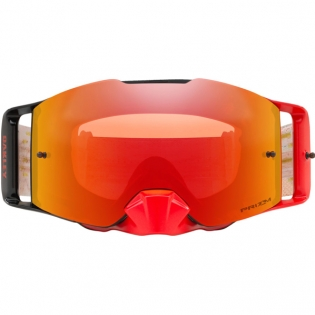 Oakley Front Line MX Goggles - Equaliser Red Yellow Prizm Iridium Image 2