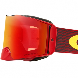 Oakley Front Line MX Goggles - Equaliser Red Yellow Prizm Iridium Image 4