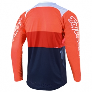 Troy Lee Designs SE Beta Orange Navy Jersey Image 3