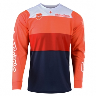 Troy Lee Designs SE Beta Orange Navy Jersey Image 4