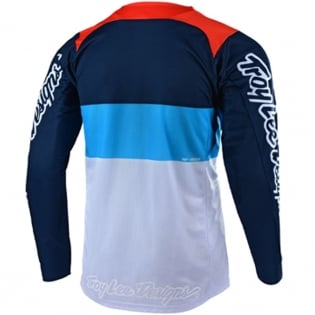 Troy Lee Designs SE Air Beta White Navy Jersey Image 3