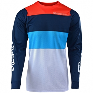 Troy Lee Designs SE Air Beta White Navy Jersey Image 4