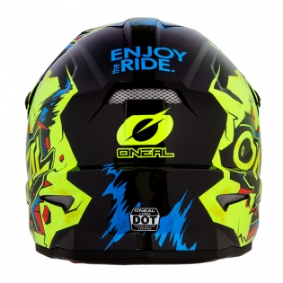 ONeal 3 Series Villian Neon Yellow Motocross Helmet Image 2