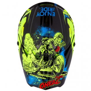 ONeal 3 Series Villian Neon Yellow Motocross Helmet Image 3