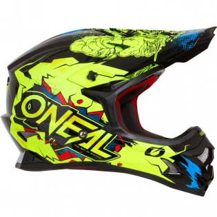 ONeal 3 Series Villian Neon Yellow Motocross Helmet Image 4