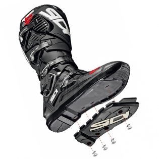 Sidi Crossfire 3 SRS Black White Motocross Boots Image 4
