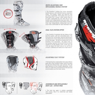 Sidi Crossfire 3 SRS Black Red White Motocross Boots Image 2