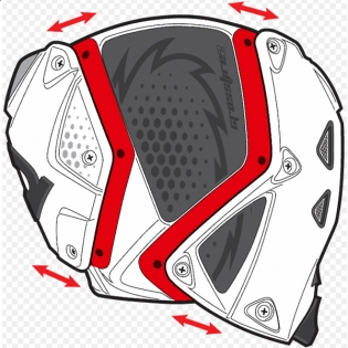 Sidi Crossfire 3 SRS Black Red White Motocross Boots Image 3