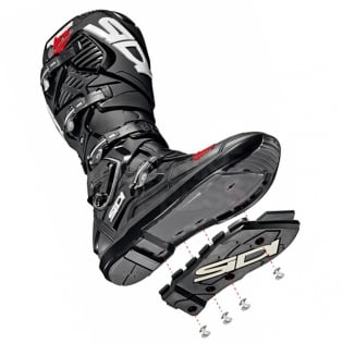 Sidi Crossfire 3 SRS Black Red White Motocross Boots Image 4