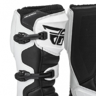 Fly Racing Maverik White MX Boots Image 2