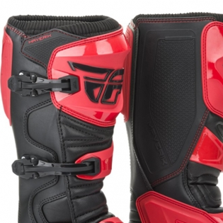 Fly Racing Maverik Red Black MX Boots Image 2
