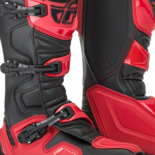 Fly Racing Maverik Red Black MX Boots Image 3