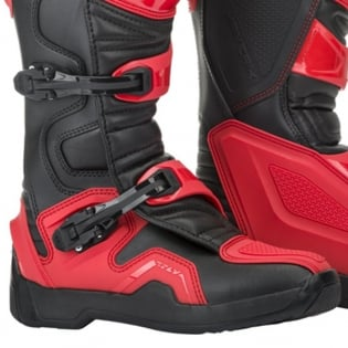Fly Racing Maverik Red Black MX Boots Image 4