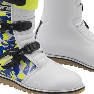 Gaerne Balance Classic Camo Blue Yellow White Trials Boots Image 3